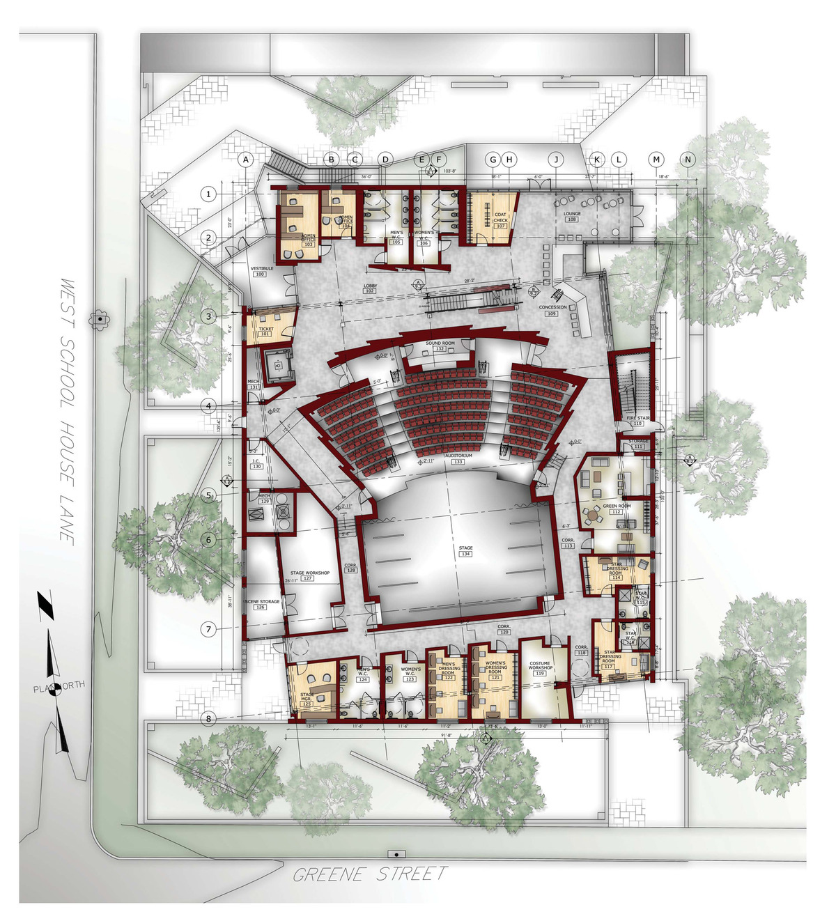 Orchestra Floor Plan