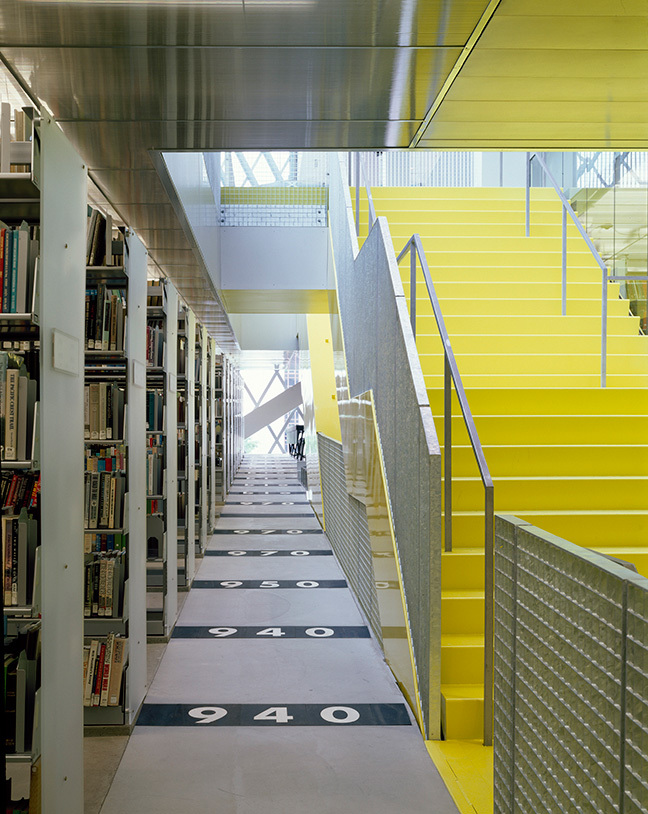 Seattle Central Library by OMA/ LMN, Seattle, WA 2004. Image © Lara Swimmer.