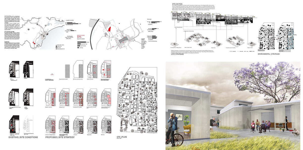 Third Plcae: Invertec House by Danielle Apap, Lishi Li, Miguel Silva Santisteban (Australia)
