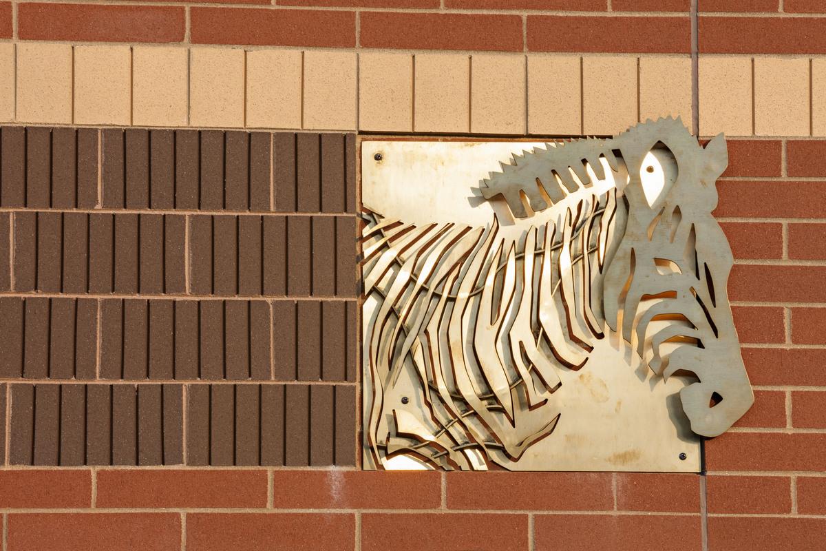 brass sculpture, exterior