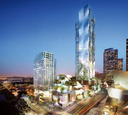 Development firm Related has officially stepped away from the original vision for the Grand Avenue plan, which included two towers designed by architect Frank Gehry. This Gehry design was approved in February 2008.