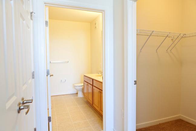 View of Bathroom / W.I.C.