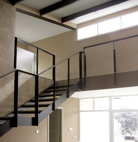 Living room and stair