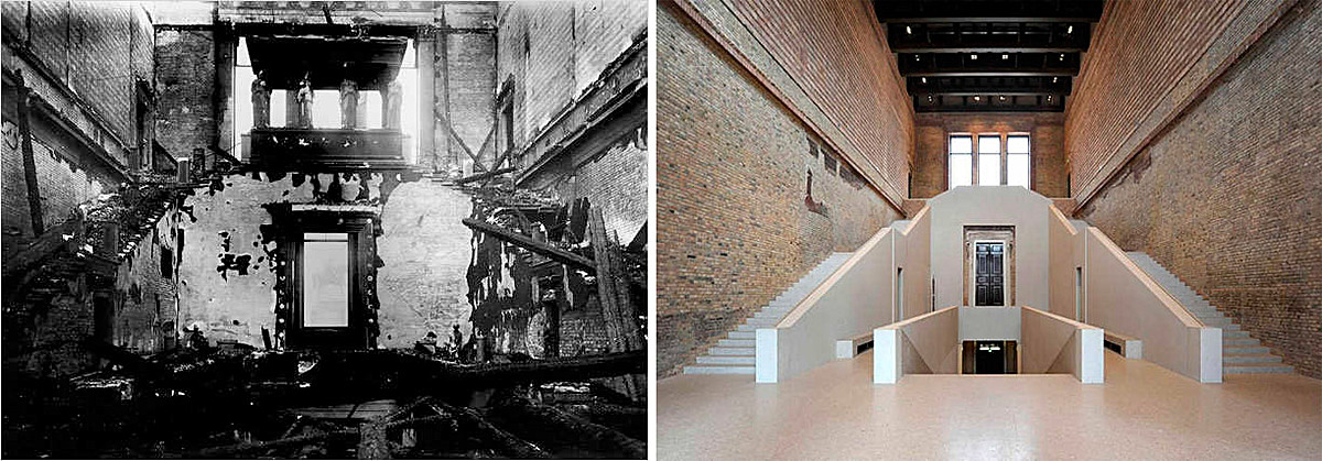 Figure 14 - Neues Museum in Berlin. Before and after the renovation.