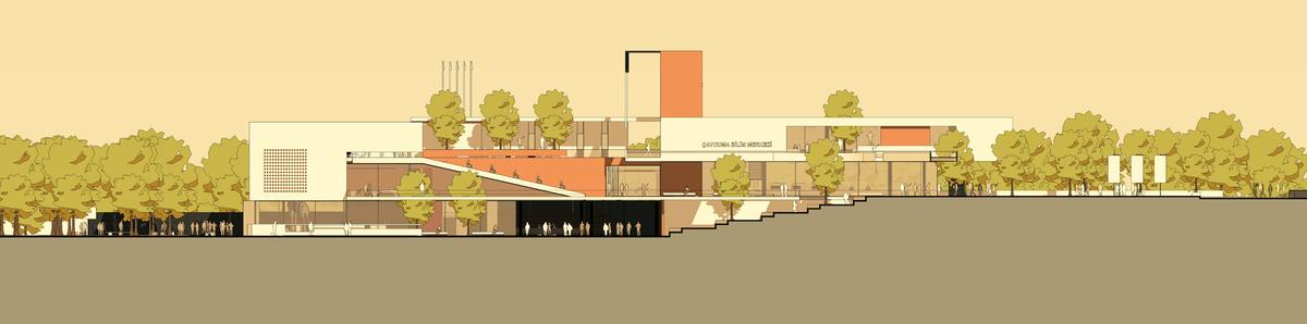 017 – FRONT ELEVATION   1/200 - Image Courtesy of ONZ Architects