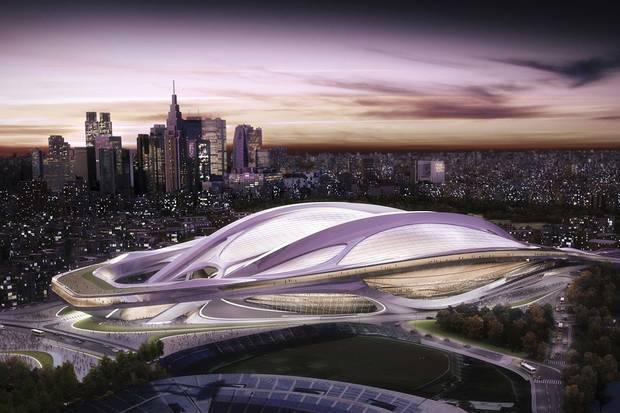 stadium design by Zaha Hadid was part of Tokyo's winning bid for the 2020 Olympics