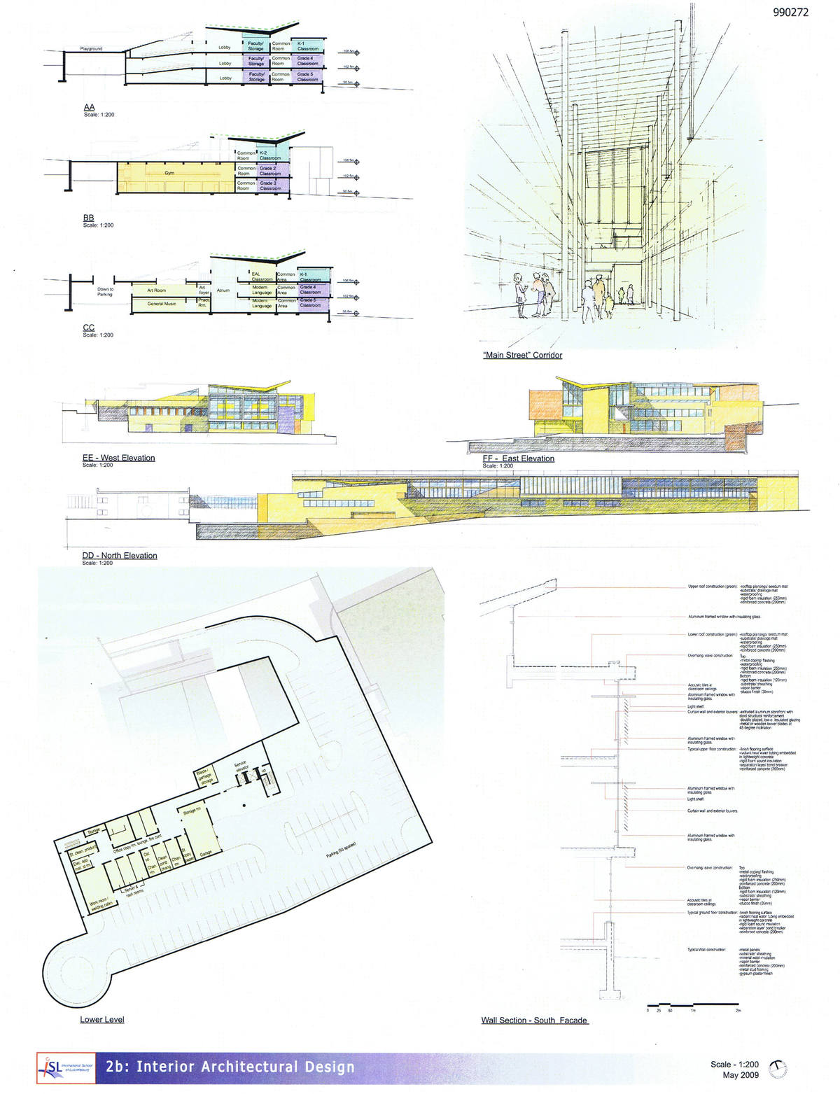 Sections, Elevations, Underground Parking Plan