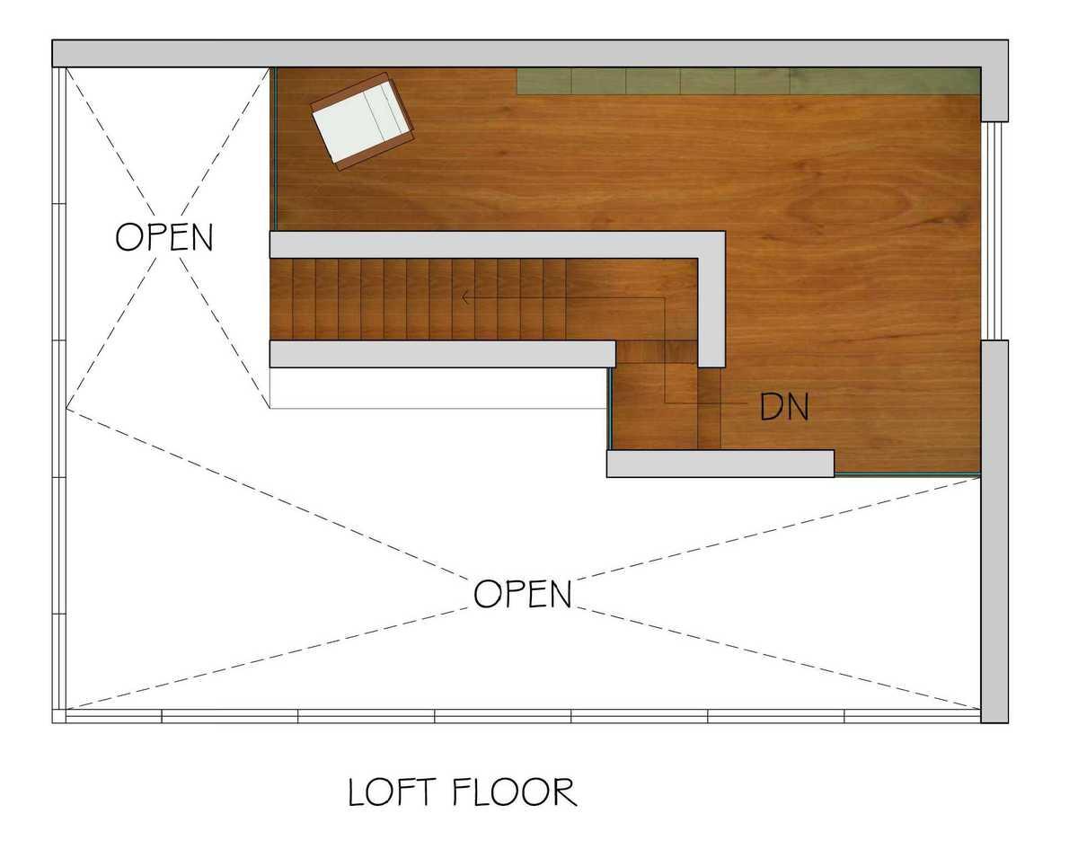 Loft Floor plan_ rendering