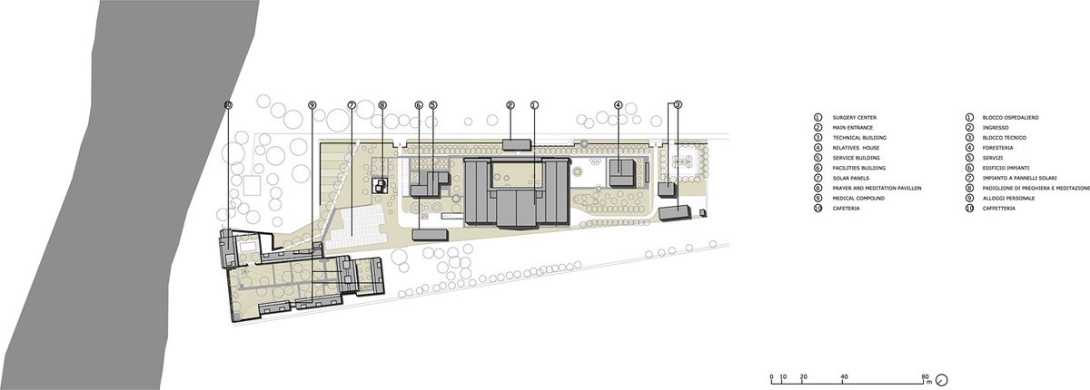 Salam Cardiac Surgery Center: Site plan. Photo: AKAA / Courtesy of Architects