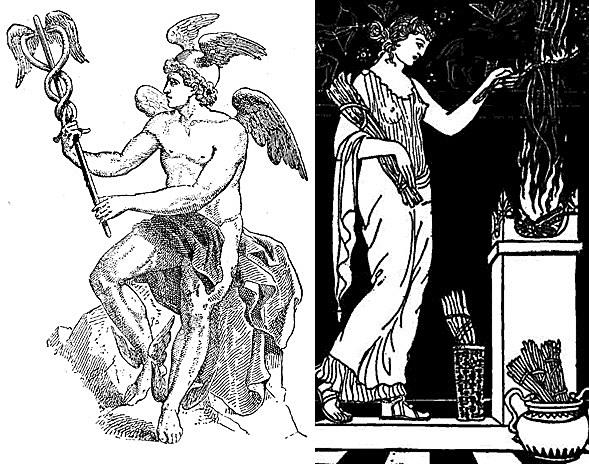 Figure 1 - Hermes and Hestia