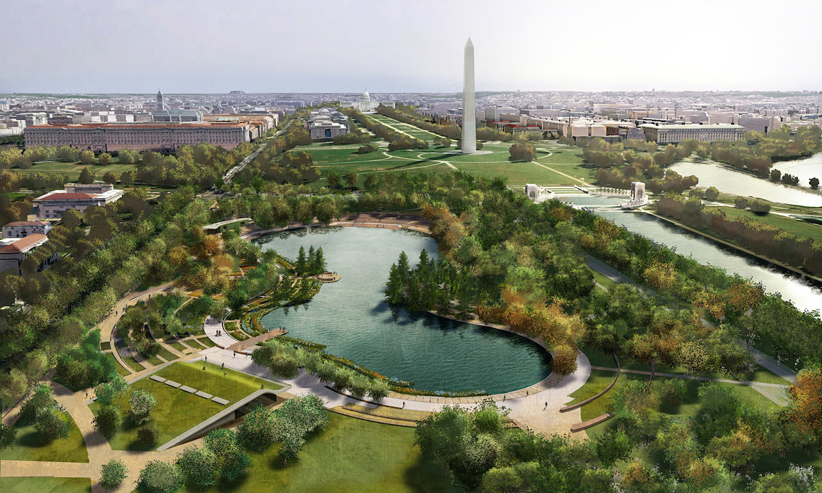 Nelson Byrd Woltz Landscape Architect + Paul Murdoch Architects for Constitution Gardens