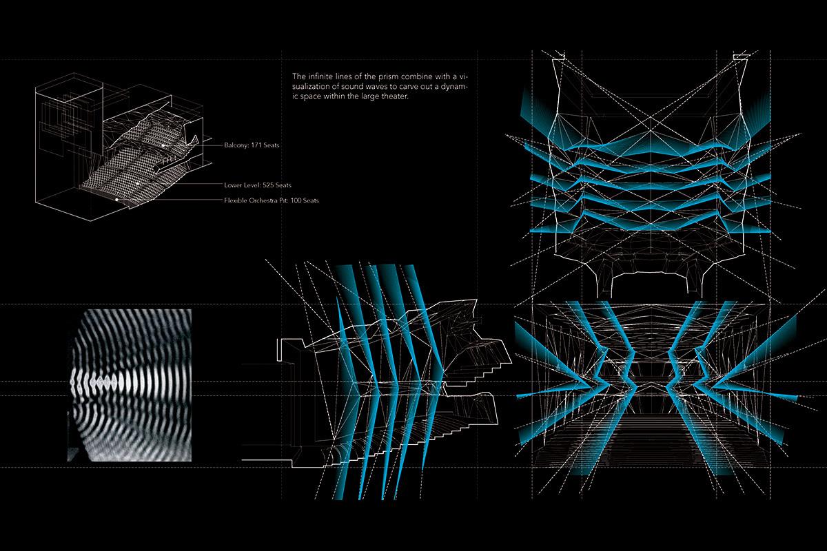 Large Theater, interior diagram (Image: H Architecture & Haeahn Architecture)