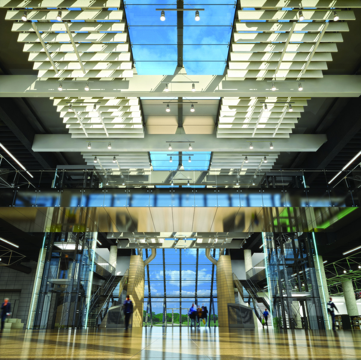 entrance lobby, 3D rendering