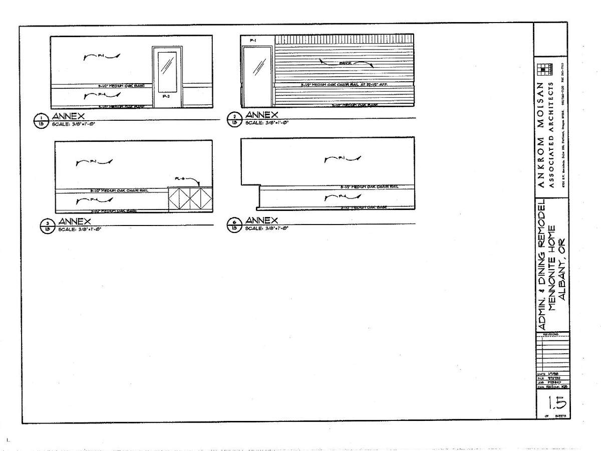 Interior Elevations- Annex