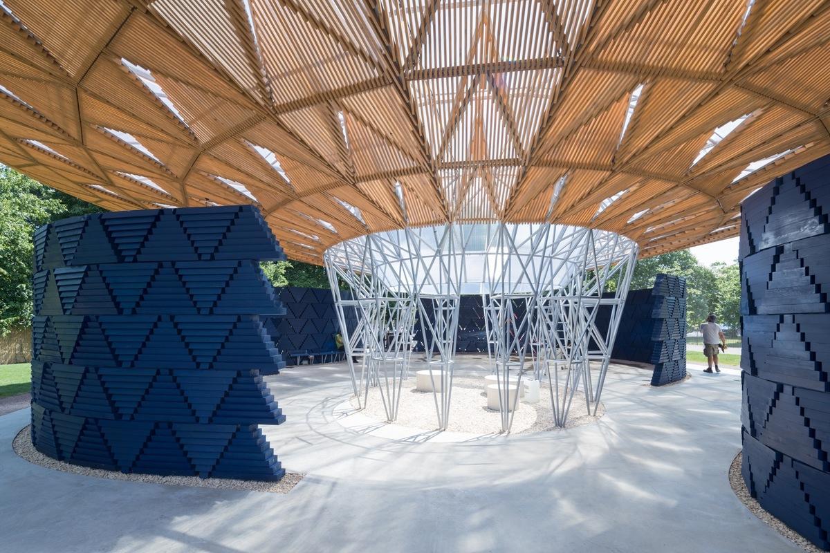 Serpentine Pavilion 2017, designed by Diébédo Francis Kéré. Serpentine Gallery, London (23 June – 8 October 2017) © Kéré Architecture, Photography © 2017 Iwan Baan