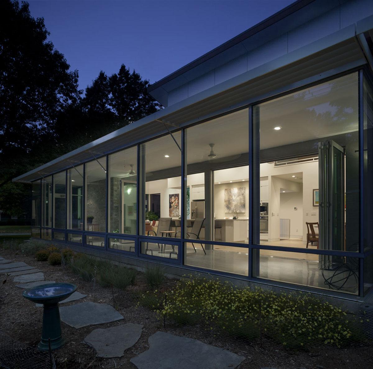 solarium at night - passive/active solar design