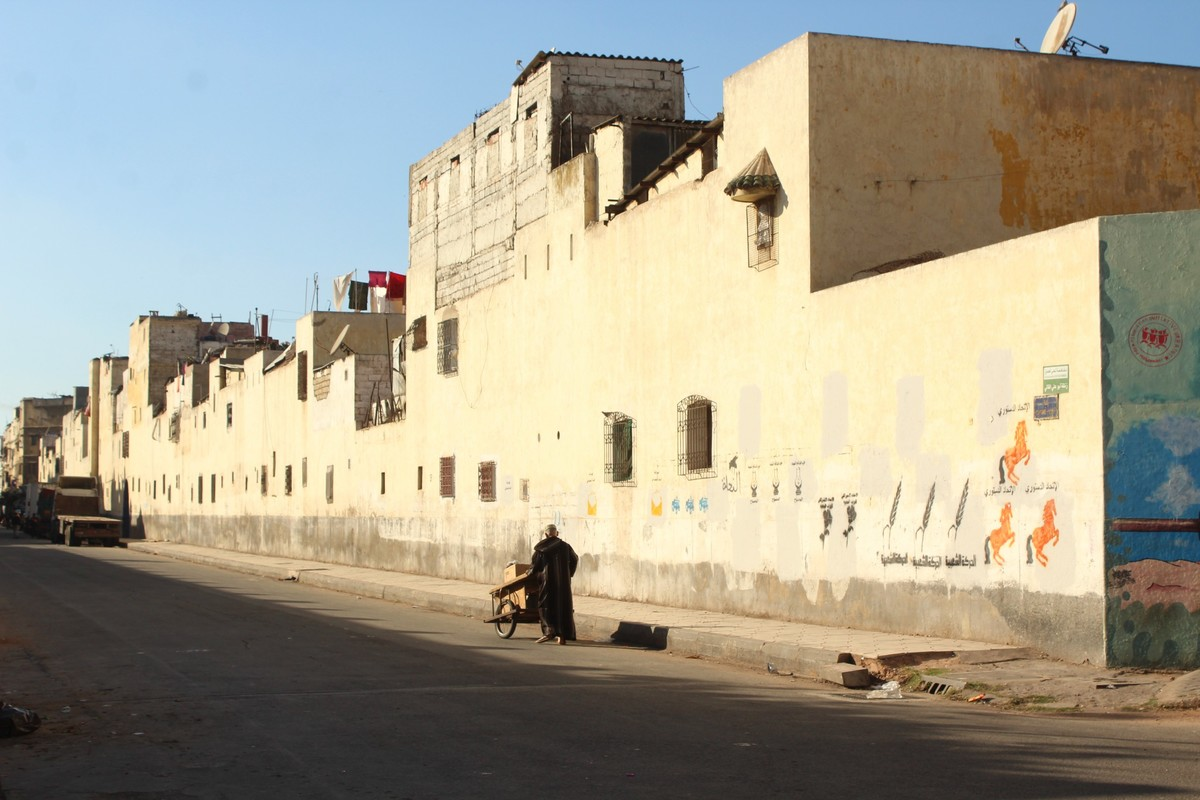 The neighborhood of Hay Mohammadi in eastern Casablanca that was the object of a large colonial masterplan in the 1950s. Image courtesy The Funambulist