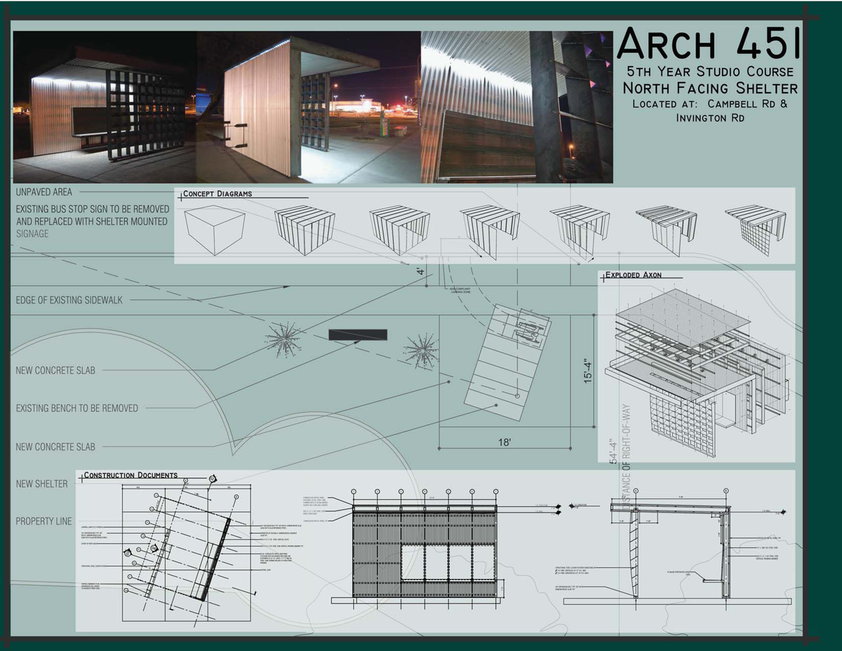 North Facing Shelter: Photos, Concept, and Construction Documents
