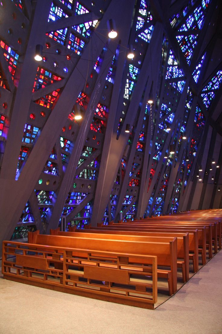 The interior of The Fish Church is made of 20,000 pieces of dalle de verre glass in 86 hues. Photo by Robert Gregson.