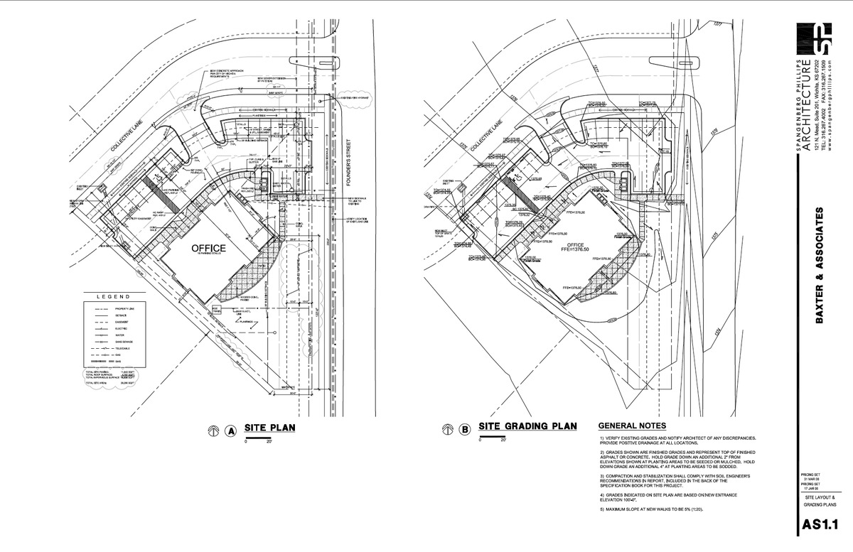 Baxter Site and Grading Plans