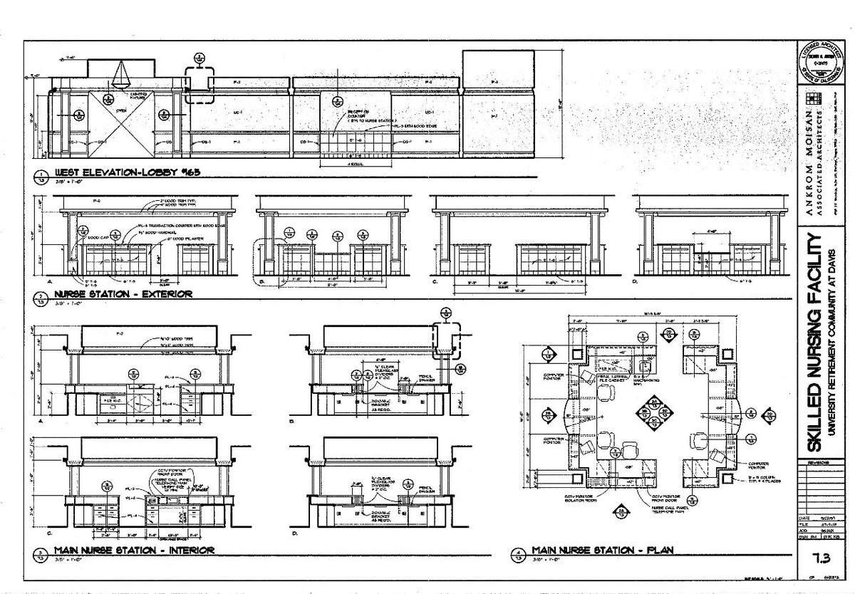 Interior Elevations- Lobby & Nurse Station Plan