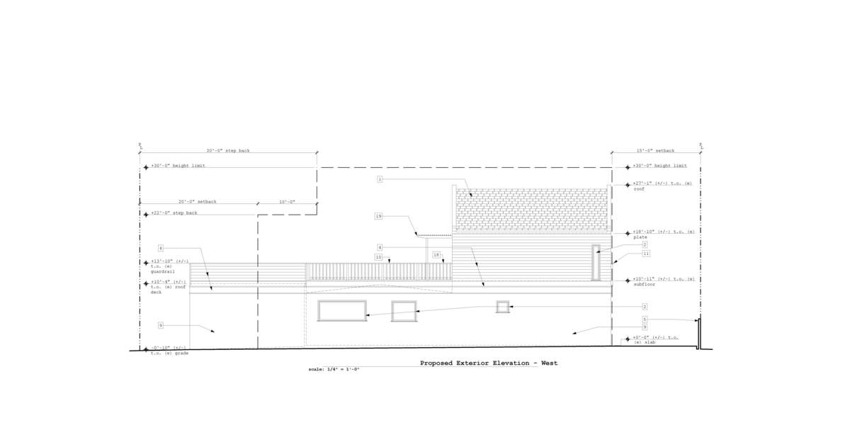Proposed West Exterior Elevation