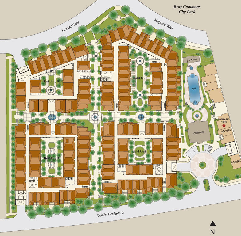 Site Plan of West Buildings