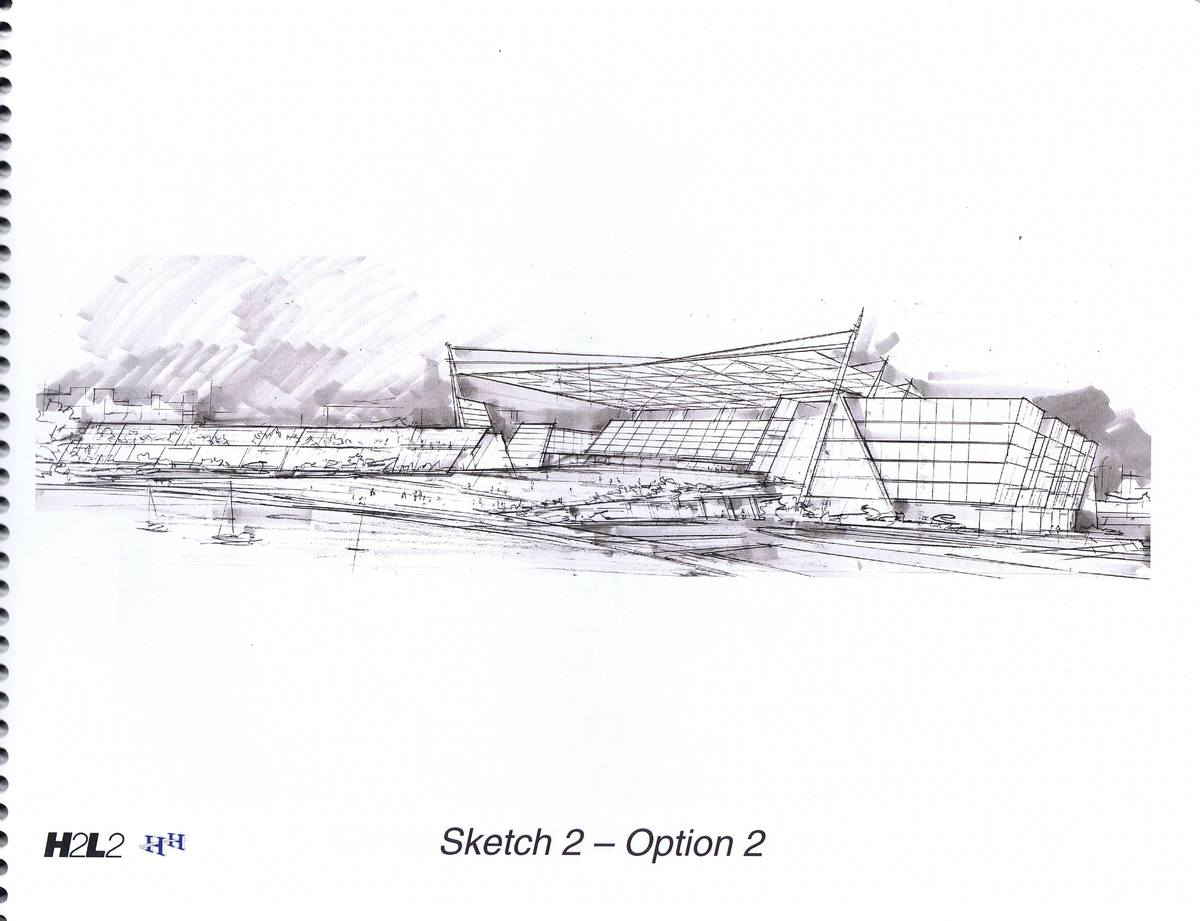 Sketch, view from the lake