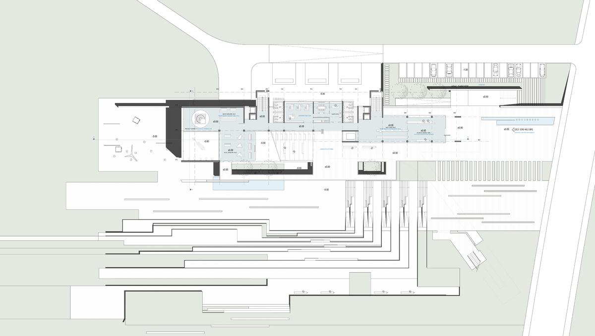 008 – UPPER GROUND FLOOR PLAN   1/200 - Image Courtesy of ONZ Architects