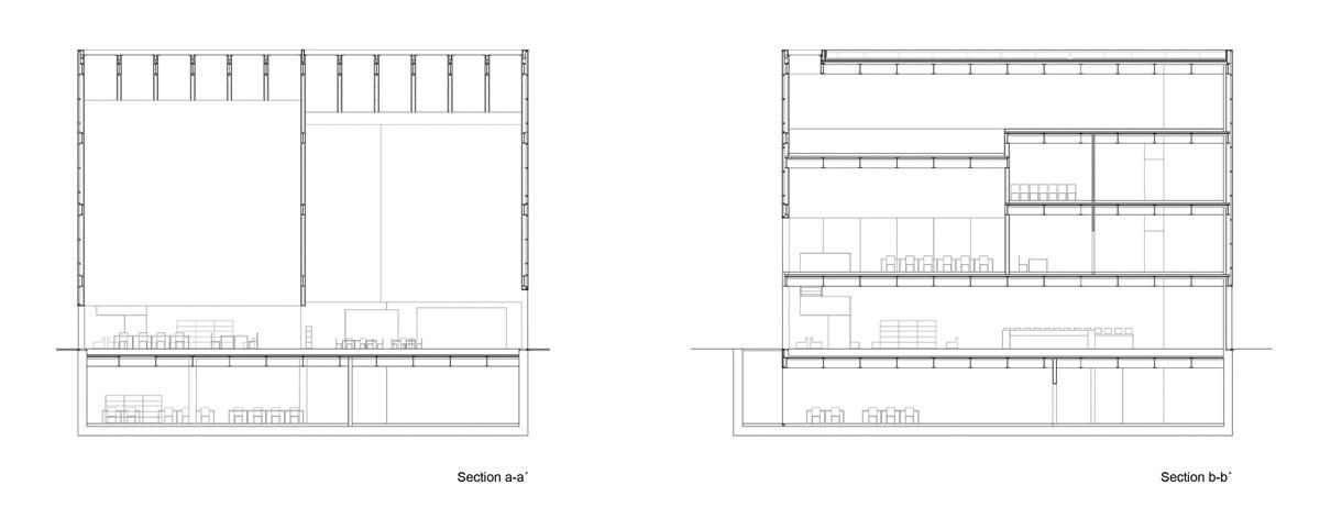 Sections AA & BB (Image: Gorka Blas)