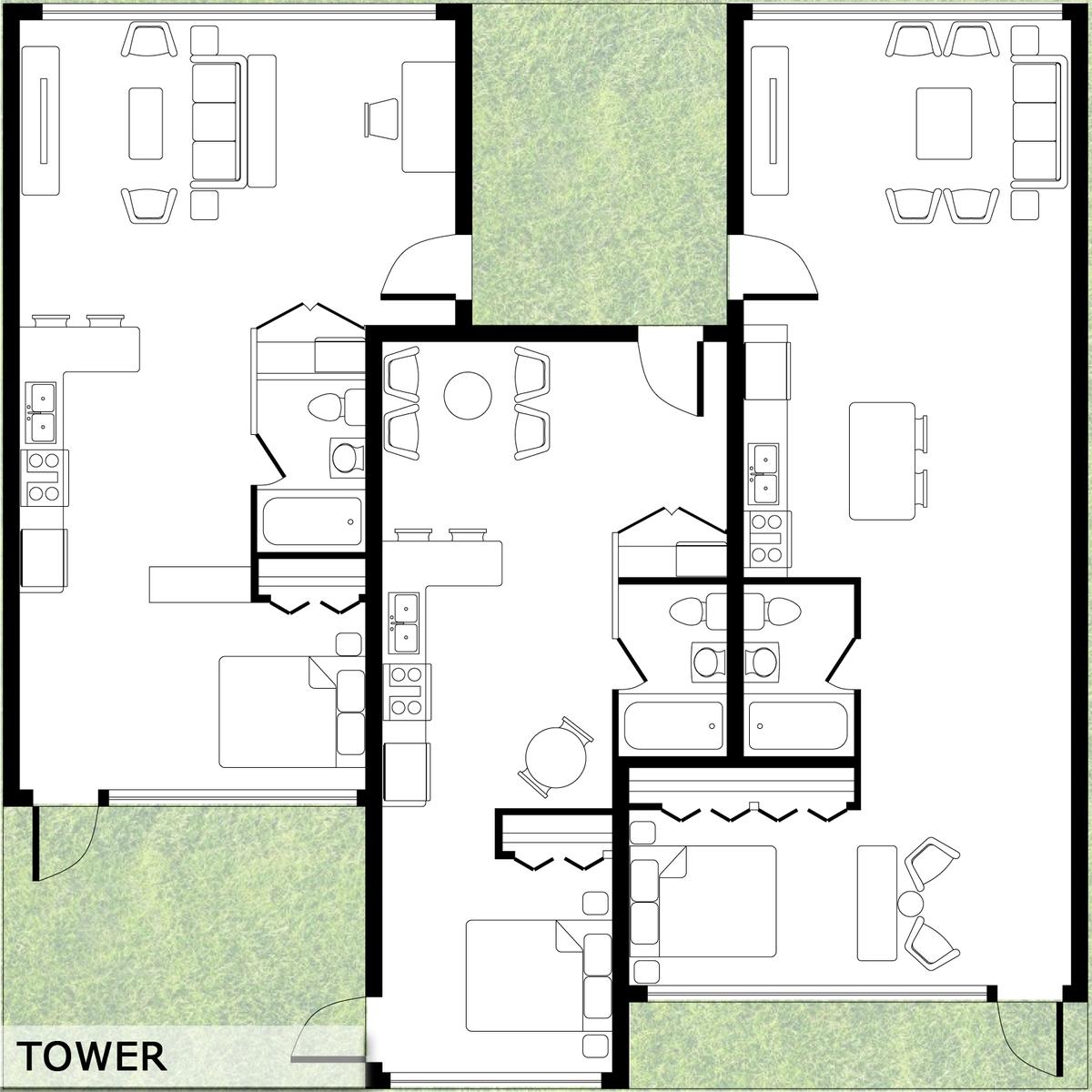 Unit Floorplan_Tower Variation