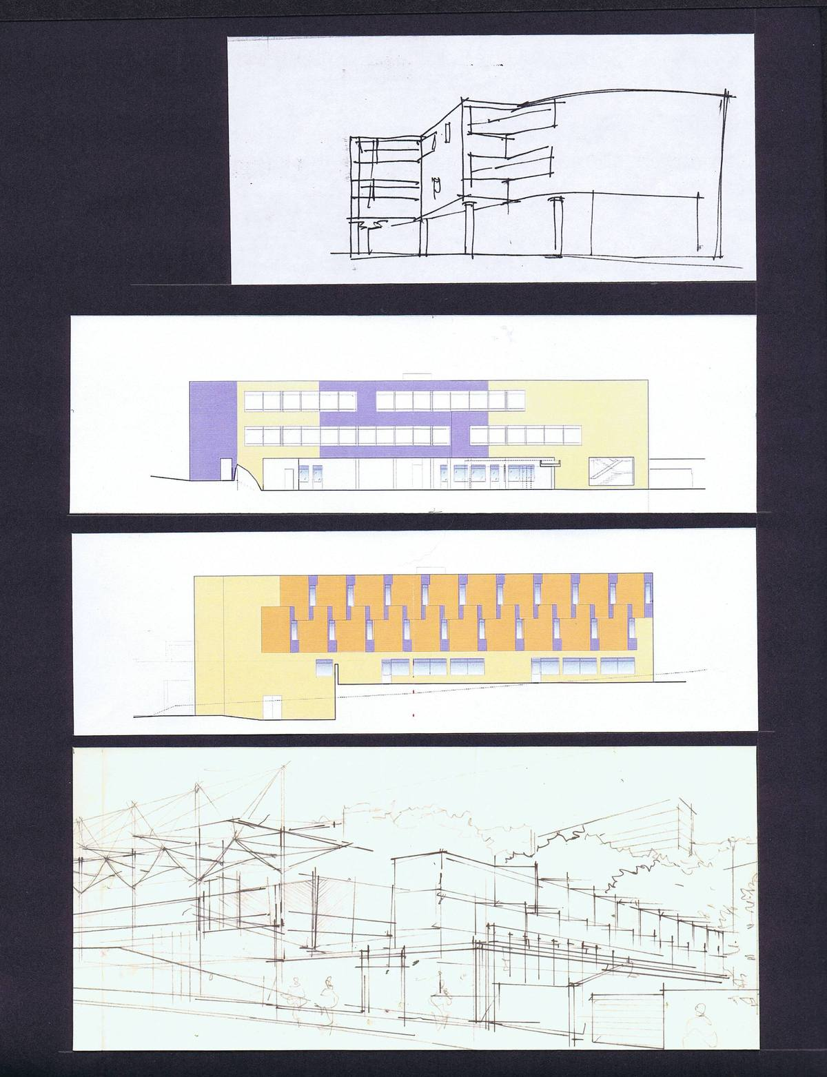Sketches, Elevation Color Studies
