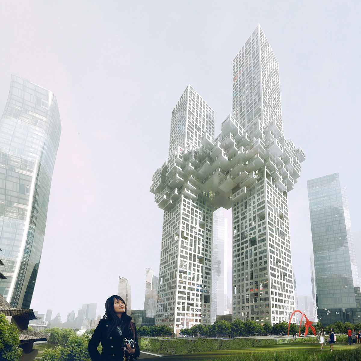 The Cloud at Yongsan Dreamhub, Seoul, South Korea (Image: Luxigon/MVRDV)