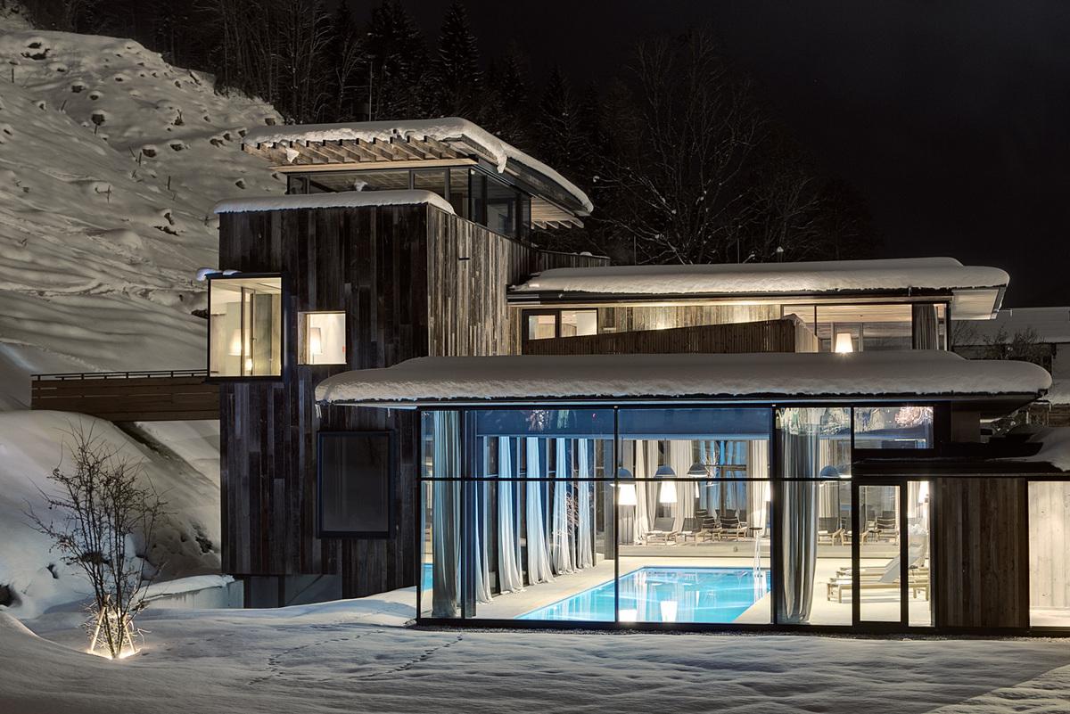 Part of the Hotel Wiesergut extension (Photo: Mario Webhofer / W9 Werbeagentur, Innsbruck)