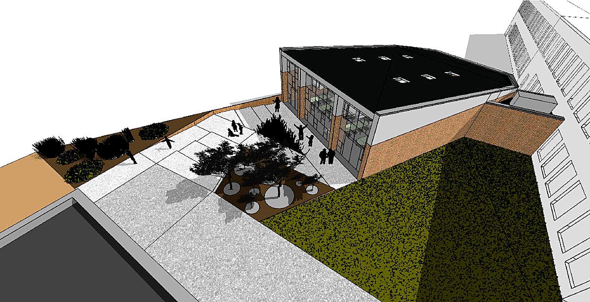 Exterior Entry Ramp / Plaza - Conceptual
