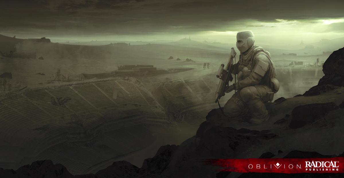 Oblivion, the illustrated novel, written and illustrated by Joseph Kosinski