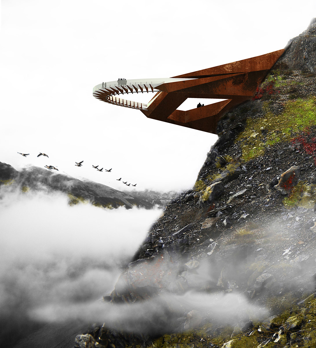 Future Project of the Year - Competition Entries: Glacier Discovery Walk, Alberta, Canada, Sturgess Architecture, Canada