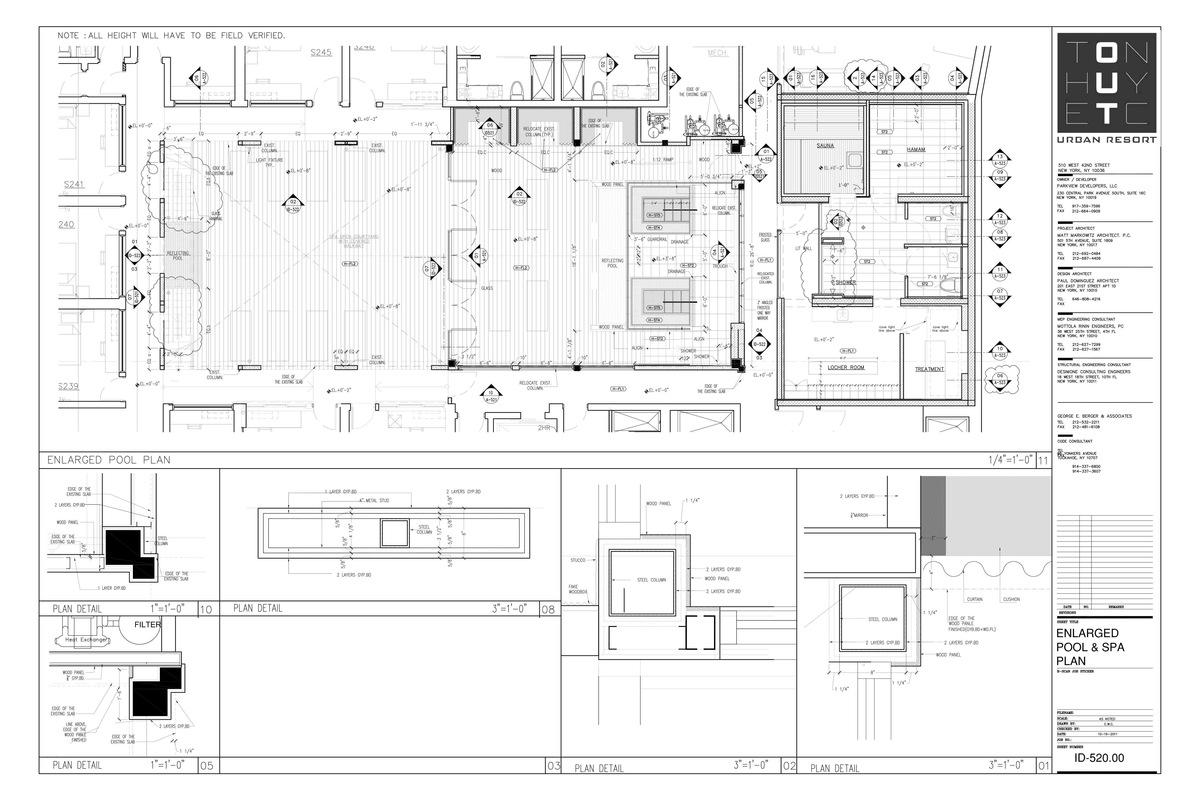 Enlarged Spa Area & Details- My sample design of custom details