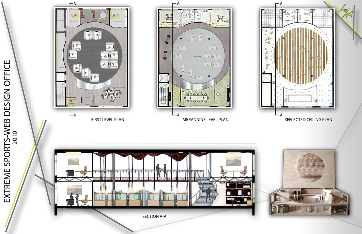 Floor plans, RCP, and Section View