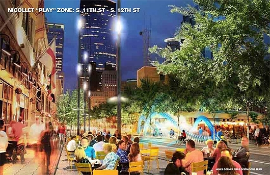 Slide from James Corner Field Operations' Nicollet Mall redesign presentation