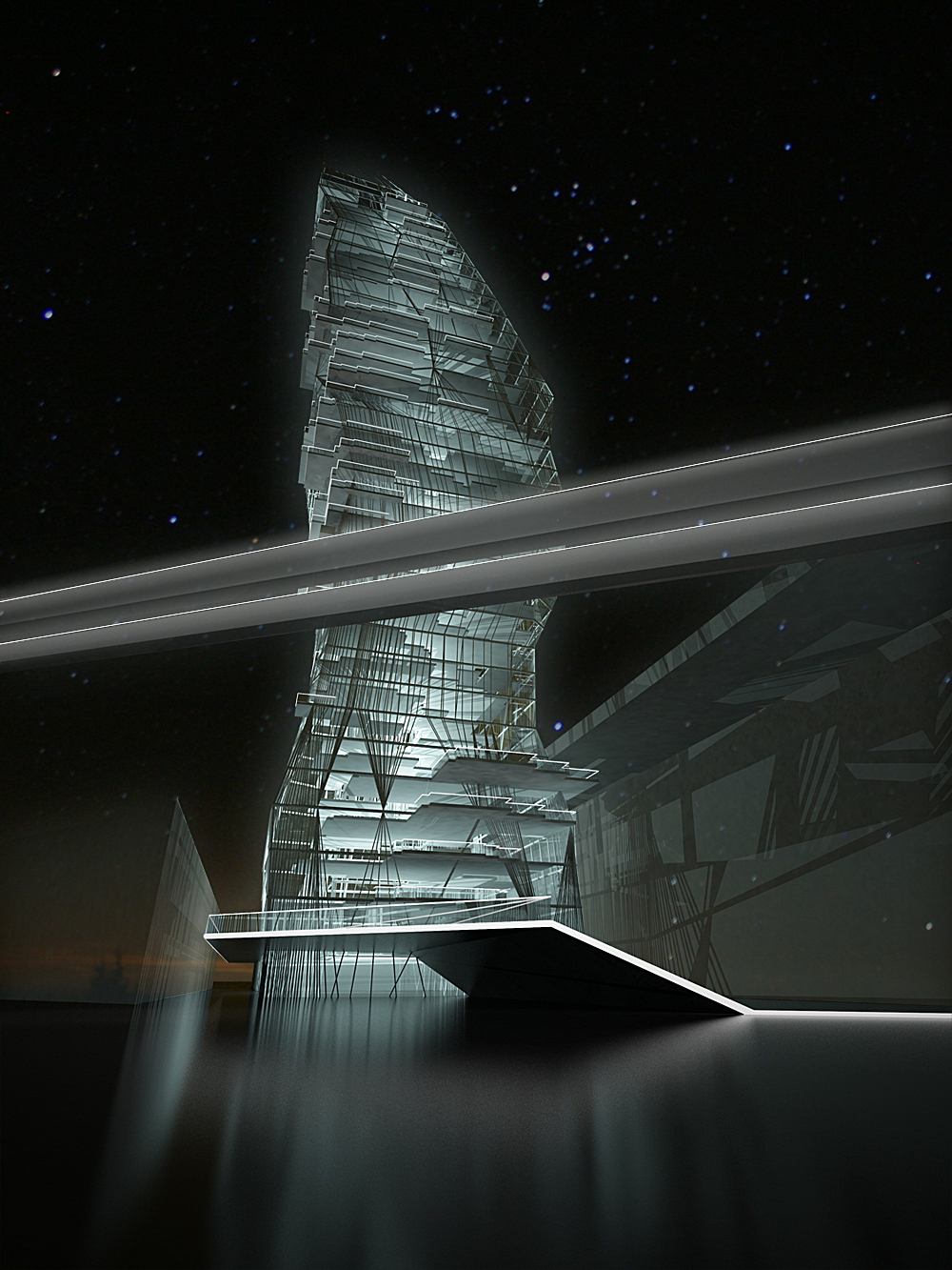 Full Tower, At Night