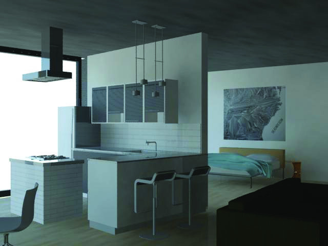 Loft for residents (3Dmax rendering)