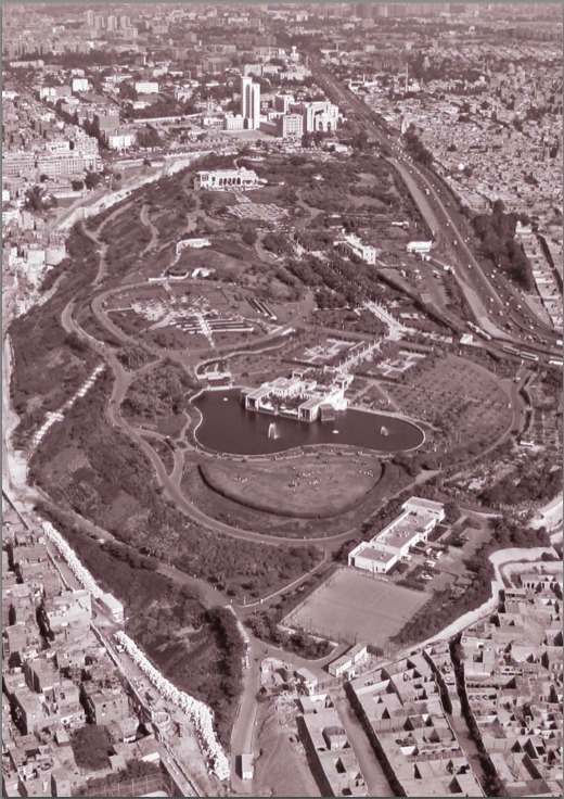 Aerial view of Al-Azhar Park, Cairo, Dec. 6, 2006. Gary Otte/Aga Khan Trust for Culture