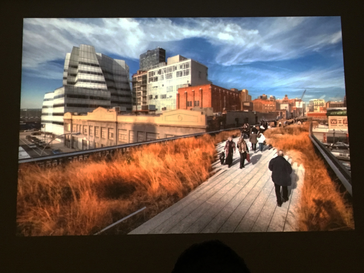 A slide from Liz Diller and Christopher Hawthorne's conversation about The High Line. Photo: author.