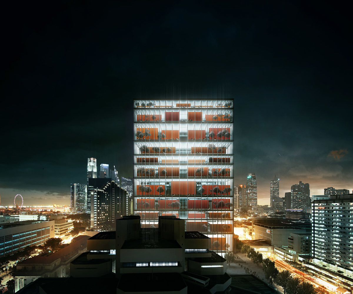 Winning design for the new Singapore Subordinate Courts Complex by Serie Architects in collaboration with Multiply Architects (Image: Serie Architects)
