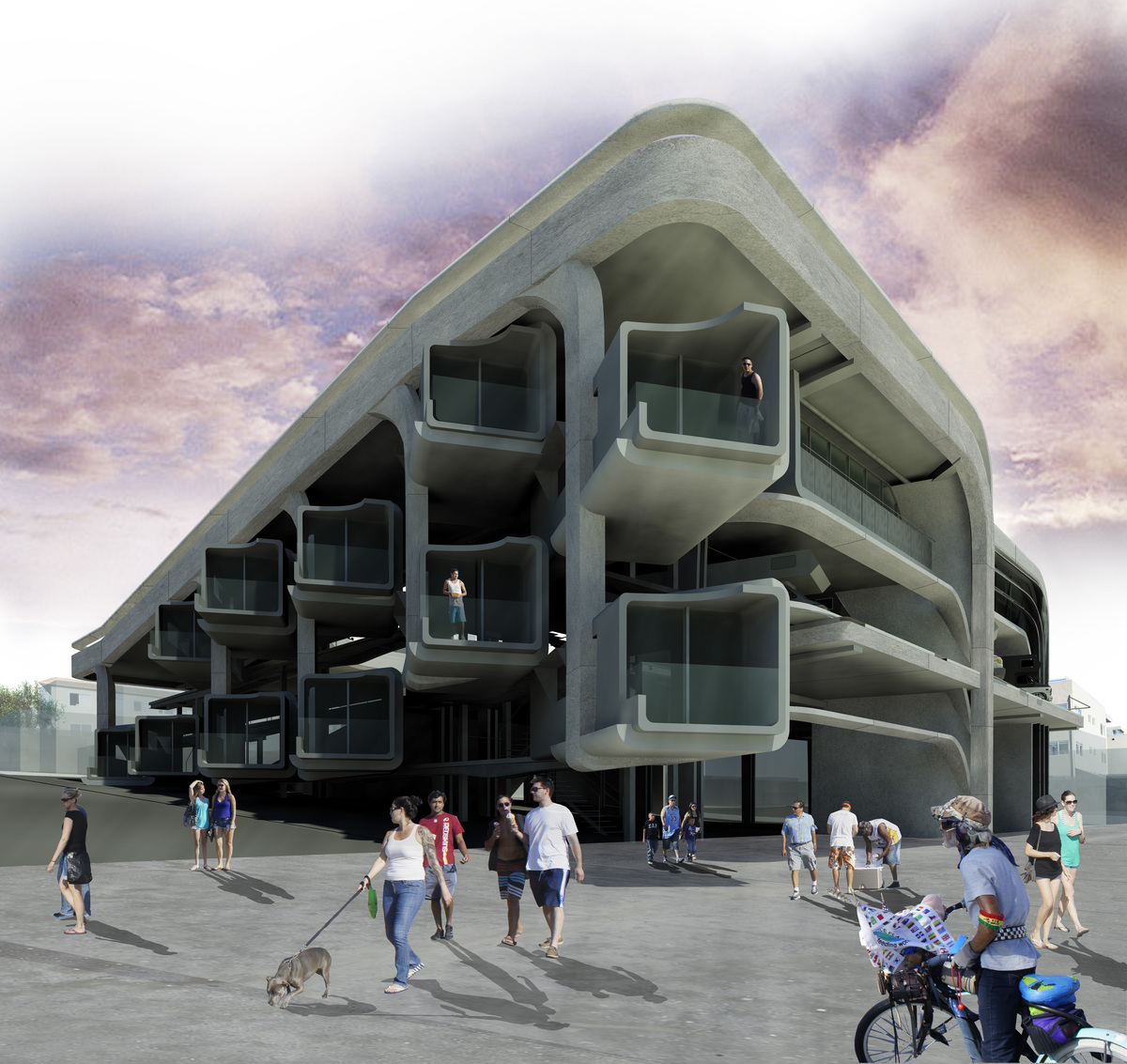 Exterior rendering from Boardwalk