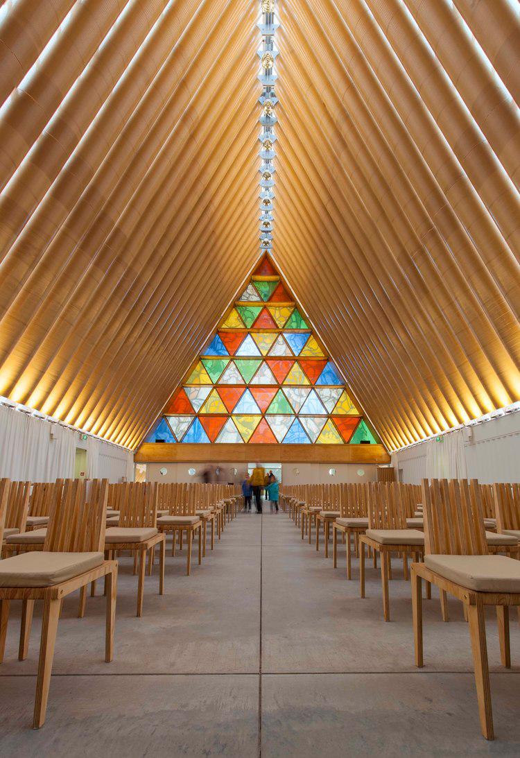 Cardboard Cathedral, Christchurch by Shigeru Ban