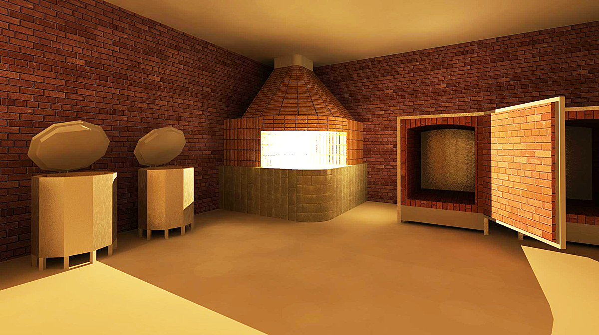 Kiln interior rendering