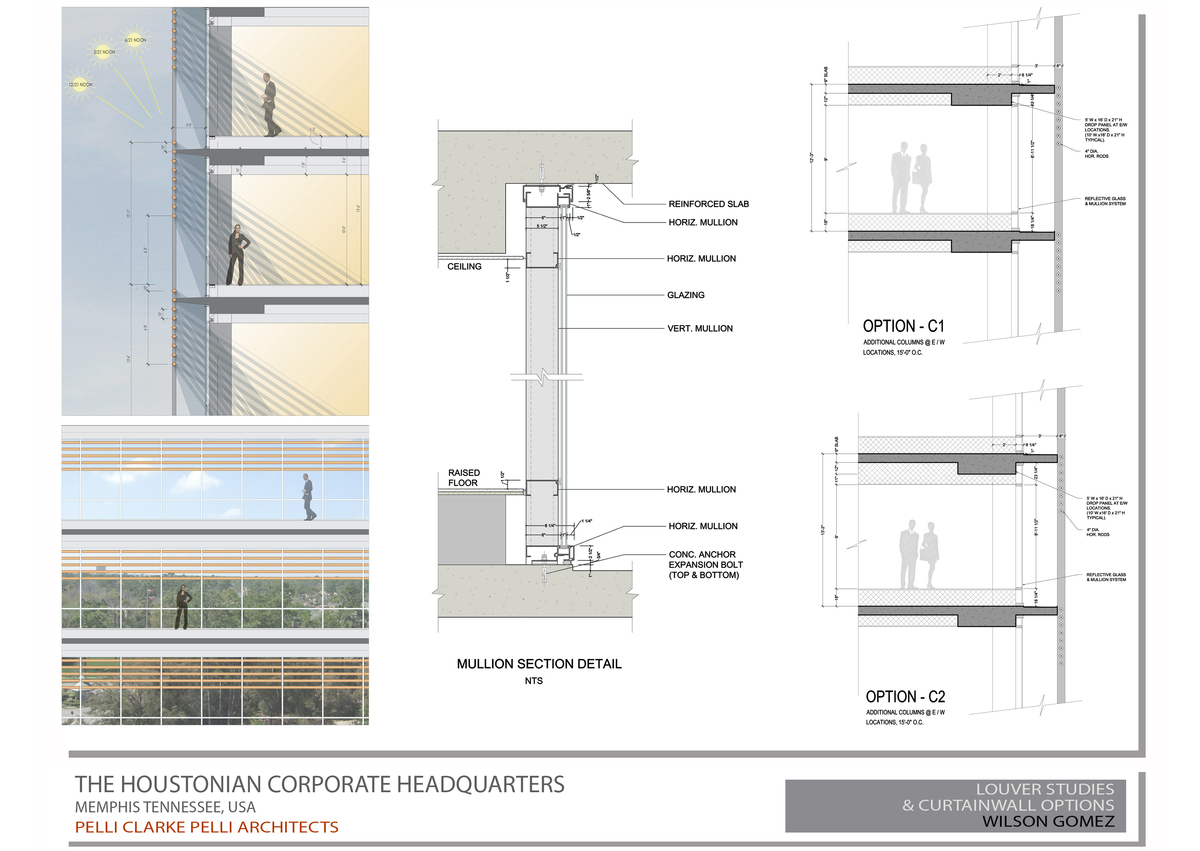 Louver Studies & Curtainwall Sections