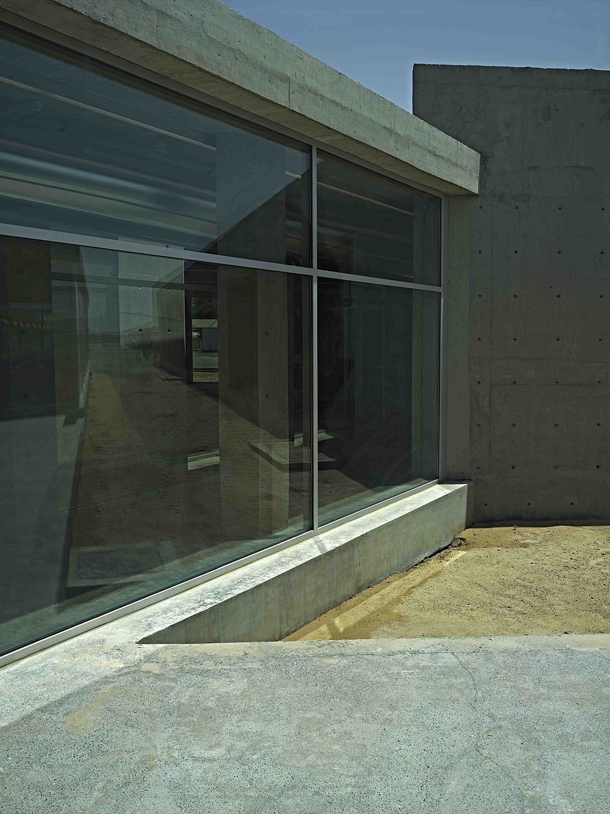 Walkway between the Offices and Cafeteria